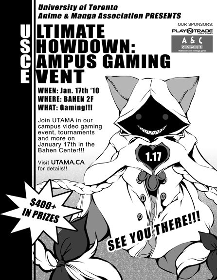 Gaming Event Poster [Art by: Yvie Chen]
